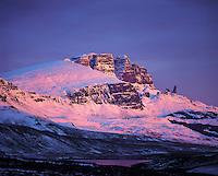 Sunrise light on The Storr, Trotternish, Isle of Skye, Scotlan