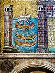 Sailing ships mosaicBasilica di Sant'Apollinare Nuevo, 6th century Byzantine mosaics, Ravenna, Italy