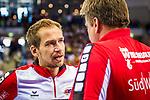 Ralf BADER (Trainer SG Bietigheim)\Jens RITH (CoTrainer Bietigheim)  beim Spiel in der Handball Bundesliga, SG BBM Bietigheim - Rhein Neckar Loewen.<br /> <br /> Foto &copy; PIX-Sportfotos *** Foto ist honorarpflichtig! *** Auf Anfrage in hoeherer Qualitaet/Aufloesung. Belegexemplar erbeten. Veroeffentlichung ausschliesslich fuer journalistisch-publizistische Zwecke. For editorial use only.