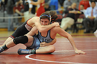 North Penn's Colin Shannon (bottom) wrestles against Coatesville's Chase Stephens during the 152 pound match Saturday, March 4, 2017 at Souderton High School in Franconia, Pennsylvania. (Photo by William Thomas Cain)