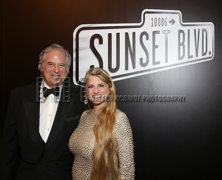Stewart Lane and Bonnie Comley attend the Broadway Opening Night of Sunset Boulevard' at the Palace Theatre Theatre on February 9, 2017 in New York City.