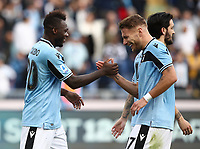 Football, Serie A: S.S. Lazio - Spal, Olympic stadium, Rome, February 2, 2020. <br /> Lazio's Felipe Caicedo (l) celebrates after scoring  his second goal in the match with his teammate Ciro Immobile (r) during the Italian Serie A football match between S.S. Lazio and Spali at Rome's Olympic stadium, Rome , on February 2, 2020. <br /> UPDATE IMAGES PRESS/Isabella Bonotto