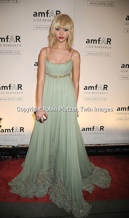 Taylor Momsen in Marchesa dress..arriving at The amfAR New York Gala Kick Off for Fashion Week on February 12, 2009 at Ciprianis 42nd Street. ....Robin Platzer, Twin Images