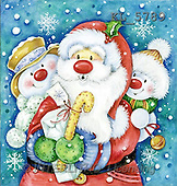 Interlitho, Theresa, CHRISTMAS SANTA, SNOWMAN, paintings, santa, snow couple(KL5789,#X#)