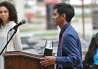 (Photo by John Valenzuela, Freelance)<br /> <br /> First Generation Graduation Reception in the Academic Quad, May 19, 2018.<br /> <br /> Cultural Graduation Celebrations are an opportunity for smaller groups to come together and acknowledge students' accomplishments with family and friends while celebrating the rich diversity of our campus. The Office of Intercultural Affairs partners with cultural organizations to coordinate the events.<br /> <br /> (Photo by John Valenzuela, Freelance)