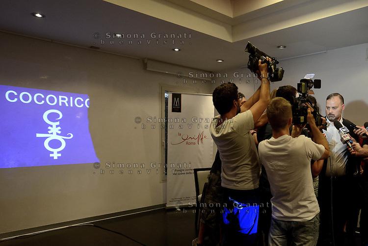 Roma, 3 Agosto 2015<br /> Conferenza stampa del general manager del Cocoric&ograve; all'hotel Griffe di Roma