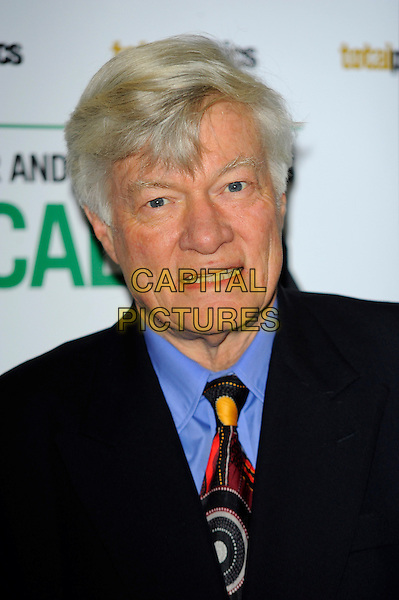 Geoffrey Robertson QC.The Paddy Power & Total Politics Political Book Awards 2013, BFI Imax,  London, England..February 6th, 2013.headshot portrait black suit blue shirt red yellow tie pattern.CAP/CJ.©Chris Joseph/Capital Pictures.