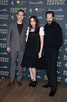 """Waleed Zuaiter, July Namir and Bertie Carvel<br /> arriving for the """"Baghdad Central"""" screening at the BFI South Bank, London.<br /> <br /> ©Ash Knotek  D3548 16/01/2020"""