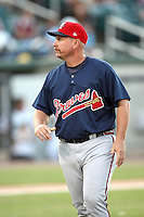 July 2, 2009: Mississippi Braves manager Phillip Wellman (30) at Pringles Park in Jackson, TN. The Mississippi Braves are the Southern League AA affiliate of the Atlanta Braves. Photo by: Chris Proctor/Four Seam Images