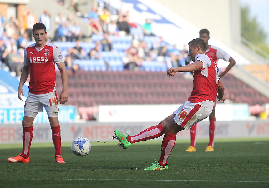 Fleetwood Town's Antoni Sarcevic gets a shot on goal<br /> <br /> Photographer Mick Walker/CameraSport<br /> <br /> Football - The Football League Sky Bet League One - Wigan Athletic v Fleetwood Town - Saturday 19th September 2015 - DW Stadium - Wigan<br /> <br /> &copy; CameraSport - 43 Linden Ave. Countesthorpe. Leicester. England. LE8 5PG - Tel: +44 (0) 116 277 4147 - admin@camerasport.com - www.camerasport.com