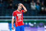 Solna 2013-09-30 Fotboll Allsvenskan AIK - &Ouml;sters IF :  <br /> &Ouml;ster 25 Johan Andersson tar sig f&ouml;r pannan och ser nedst&auml;md ut<br /> (Foto: Kenta J&ouml;nsson) Nyckelord:  portr&auml;tt portrait depp besviken besvikelse sorg ledsen deppig nedst&auml;md uppgiven sad disappointment disappointed dejected