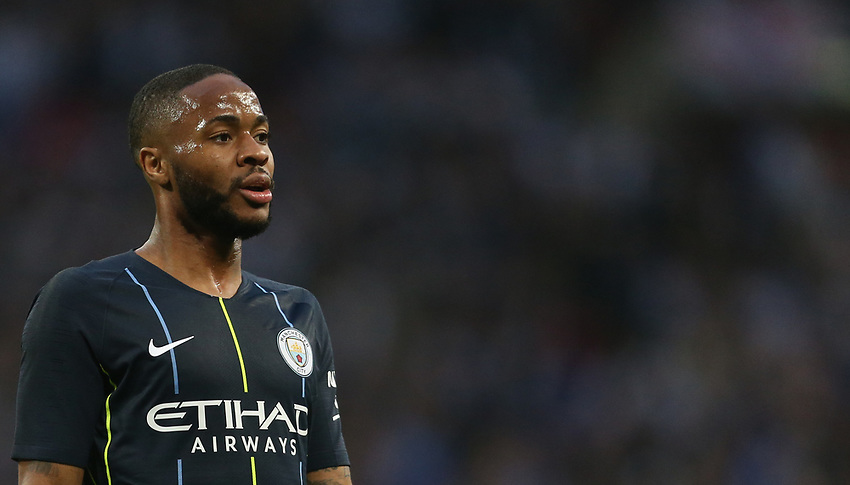 Manchester City's Raheem Sterling<br /> <br /> Photographer Rob Newell/CameraSport<br /> <br /> Emirates FA Cup Semi-Final - Manchester City v Brighton & Hove Allbion - Saturday 6th April 2019 - Wembley Stadium - London<br />  <br /> World Copyright © 2019 CameraSport. All rights reserved. 43 Linden Ave. Countesthorpe. Leicester. England. LE8 5PG - Tel: +44 (0) 116 277 4147 - admin@camerasport.com - www.camerasport.com