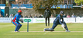 Issued by Cricket Scotland - Scotland V Afghanistan 2nd One Day International - Grange CC - reverse sweep past Afghan keeper Mohammad Shahzad by Scotland's Calum MacLeod - picture by Donald MacLeod - 10.05.19 - 07702 319 738 - clanmacleod@btinternet.com - www.donald-macleod.com