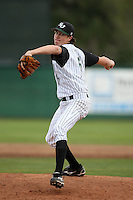 February 21, 2010:  Shortstop/Pitcher Jacob deGrom (5) of the Stetson Hatters during the teams opening series at Melching Field at Conrad Park in DeLand, FL.  Photo By Mike Janes/Four Seam Images