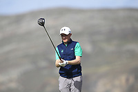 Ronan Mullarney from Ireland on the 4th tee during Round 2 Singles of the Men's Home Internationals 2018 at Conwy Golf Club, Conwy, Wales on Thursday 13th September 2018.<br /> Picture: Thos Caffrey / Golffile<br /> <br /> All photo usage must carry mandatory copyright credit (&copy; Golffile | Thos Caffrey)