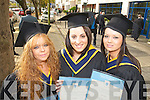 Pictured at the Institute of Technology, Tralee Autumn Conferring of Awards Ceremony on Friday, in the Brandon hotel were Michelle Jones, Tralee, Laura Power, Killarney and Emma O'Brien who graduated in Honors Nursing.
