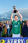 Paul O'Carroll Ballyduff lifts the Junior Club Championship final in Killorglin on Saturday