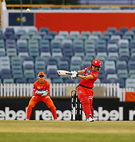 1st November 2019; Western Australia Cricket Association Ground, Perth, Western Australia, Australia; Womens Big Bash League Cricket, Perth Scorchers versus Melbourne Renegades; Sophie Moline of the Melbourne Renegades pulls the ball down the leg side during her innings