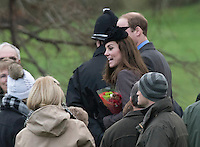 English Royals Attend Sunday Church Service, Sandringham - UK