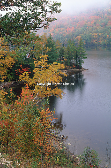 Fall view of the Kennebec River, Caratunk, Maine, USA