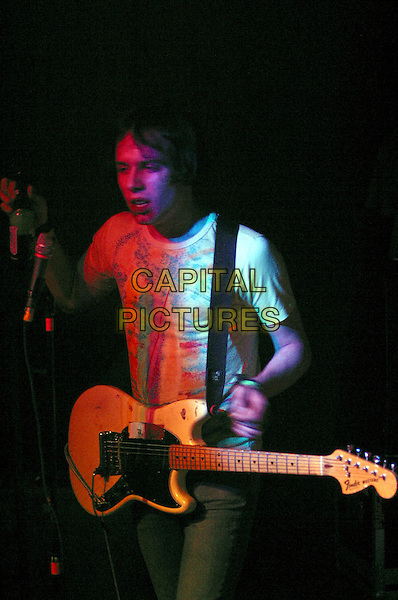 THE CRIBS.Live in concert, The Rescue Rooms, Nottingham, .April 7th 2005..half length guitar band gig music.Ref: JEZ.www.capitalpictures.com.sales@capitalpictures.com.©Jez Self/Capital Pictures