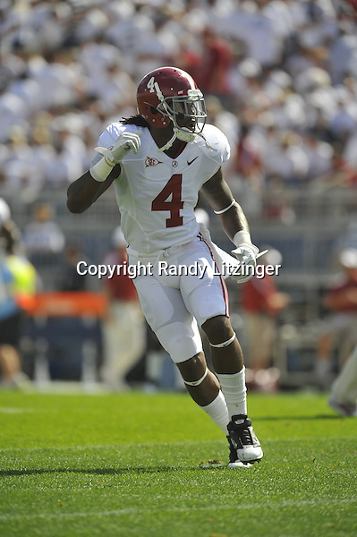 10 September 2011:  Alabama S Mark Barron (4).  The Alabama Crimson Tide defeated the Penn State Nittany Lions 27-11 at Beaver Stadium in State College, PA.
