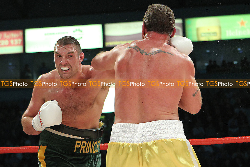 Tyson Fury vs Martin Rogan  in a boxing contest at the Odyssey Arena, Belfast, promoted by Hennessy Sports - 14-04-12- MANDATORY CREDIT: Chris Royle/TGSPHOTO - Self billing applies where appropriate - 0845 094 6026 - contact@tgsphoto.co.uk - NO UNPAID USE..