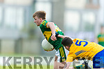 Fiachra Clifford Kerry in action against Fergal Donnellan Clare in the Munster Minor Quarter Final at Austin Stack Park Tralee on Wednesday night.
