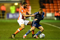 Blackpool's Colin Daniel vies for possession with Charlton Athletic's Ben Reeves<br /> <br /> Photographer Richard Martin-Roberts/CameraSport<br /> <br /> The EFL Sky Bet League One - Blackpool v Charlton Athletic - Tuesday 13th March 2018 - Bloomfield Road - Blackpool<br /> <br /> World Copyright &not;&copy; 2018 CameraSport. All rights reserved. 43 Linden Ave. Countesthorpe. Leicester. England. LE8 5PG - Tel: +44 (0) 116 277 4147 - admin@camerasport.com - www.camerasport.com