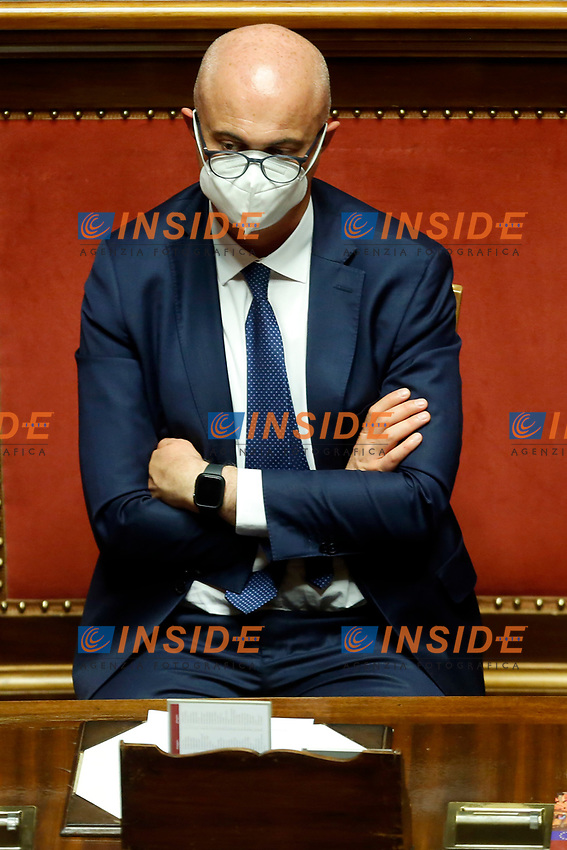 Minister for the relations with Parliament Federico D'Inca' during the Italian Prime Minister's information about Covid-19 emergency at the Senate. Rome (Italy), July 28th 2020<br /> Photo Samantha Zucchi Insidefoto