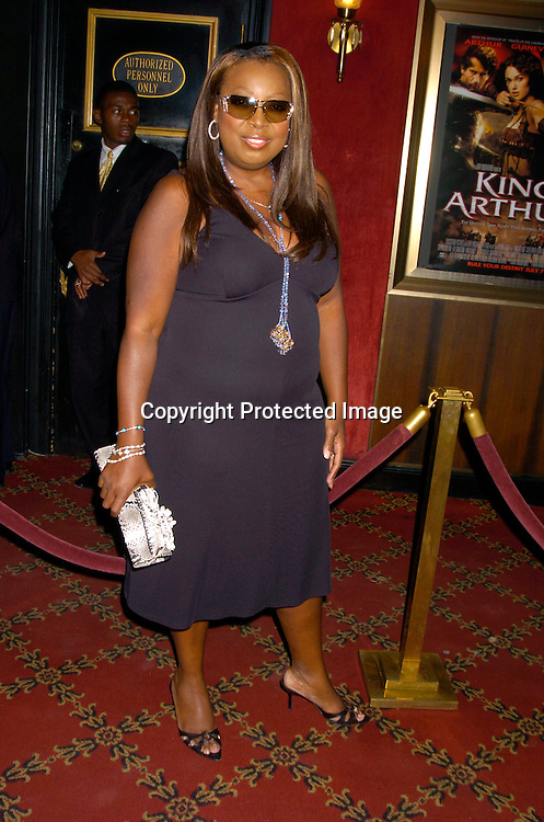 "Star Jones..at the World Premiere of ""King Arthur"" on June 28, 2004 at ..the Ziegfeld Theatre. ..Photo by Robin Platzer, Twin Images"