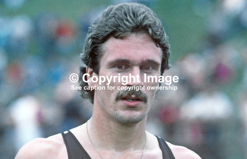 Rod Dixon, New Zealand, 1500 metres, 5000 metres, athlete, 19840081RD, competitor, Dale Farm Ulster Games, Mary Peters Track, Belfast, N Ireland.<br /> <br /> Copyright Image from Victor Patterson, 54 Dorchester Park, Belfast, UK, BT9 6RJ<br /> <br /> t: +44 28 90661296<br /> m: +44 7802 353836<br /> vm: +44 20 88167153<br /> e1: victorpatterson@me.com<br /> e2: victorpatterson@gmail.com<br /> <br /> For my Terms and Conditions of Use go to www.victorpatterson.com