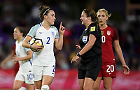 Orlando City, FL - Wednesday March 07, 2018: Lucy Bronze during a 2018 SheBelieves Cup match between the women's national teams of the United States (USA) and England (ENG) at Orlando City Stadium.