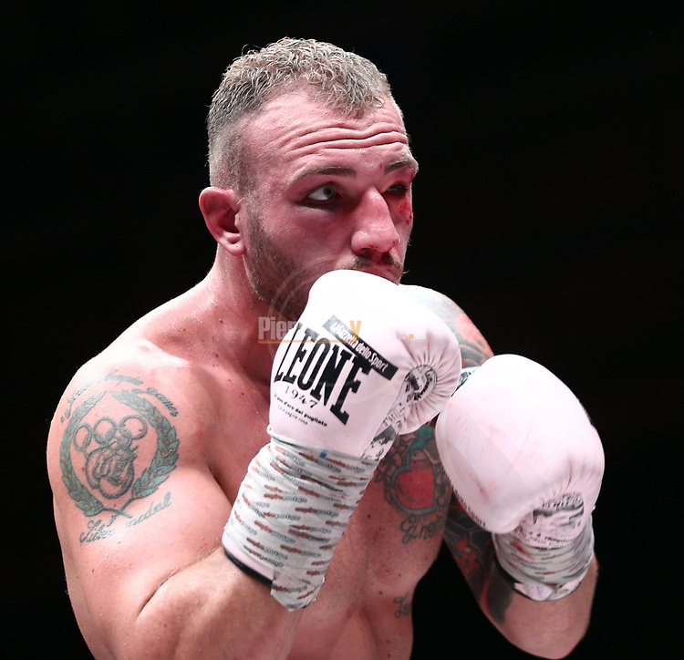 Il Festival dello Sport 2019 - Trento Boxing Night, on October 12, 2019, in Trento, Italy. Fabio Turchi (ITA) vs Tommy McCarthy (IRE). Victory for Tommy McCarthy.   Photo: Pierre Teyssot / RCS<br /> <br /> www.pierreteyssot.com