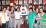 Kelli O'Hara, Michael McGrath, Terry Beaver, Michael Martin, Chris Sullivan, Judy Kaye and the cast  .attending the unveiling of the Sardi's caricature for the Tony Award-winning star of 'Nice Work If You Can Get It', Michael McGrath on July 12, 2012 in New York City.
