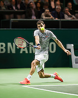 ABN AMRO World Tennis Tournament, Rotterdam, The Netherlands, 16 Februari, 2017, Grigor Dimitrov (BUL)<br /> Photo: Henk Koster