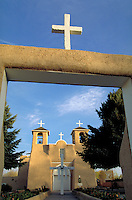 San Francisco de Asis Church. Adobe construction. Taos New Mexico.