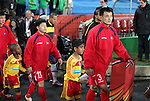 15 JUN 2010: Ri Jun Il (PRK) (3) and Mun In Guk (PRK) (11). The Brazil National Team defeated the North Korea National Team 2-0 at Ellis Park Stadium in Johannesburg, South Africa in a 2010 FIFA World Cup Group G match.