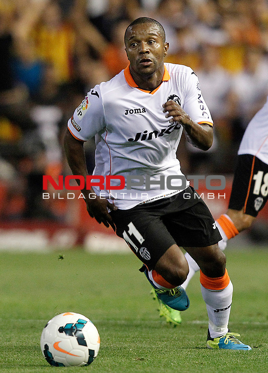 Valencia's Dorlan Pabon during La Liga match.September 1,2013. Foto © nph / Acero)