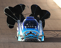 Feb 23, 2018; Chandler, AZ, USA; NHRA funny car driver Jonnie Lindberg during qualifying for the Arizona Nationals at Wild Horse Pass Motorsports Park. Mandatory Credit: Mark J. Rebilas-USA TODAY Sports