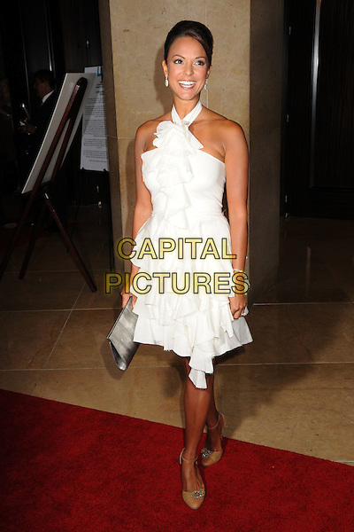 EVA LaRUE.23rd Annual IMAGEN Awards at the Beverly Hilton Hotel, Beverly Hills, California, USA..August 21st, 2008.full length white halterneck dress ruffled ruffles .CAP/ADM/BP.©Byron Purvis/AdMedia/Capital Pictures.