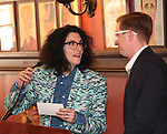 Tina Landau and Kyle Jarrow during the 2018 Outer Critics Circle Theatre Awards presentation at Sardi's on May 24, 2018 in New York City.