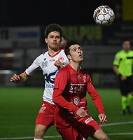 FC GULLEGEM - KV KORTRIJK :<br /> vriendschappelijke wedstrijd<br /> Jarne Jodts (R) en Hannes Van Der bruggen (L)<br /> <br /> Foto VDB / Bart Vandenbroucke