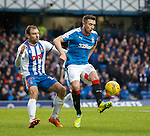 Conrad Balatoni shadows Danny Wilson of Rangers