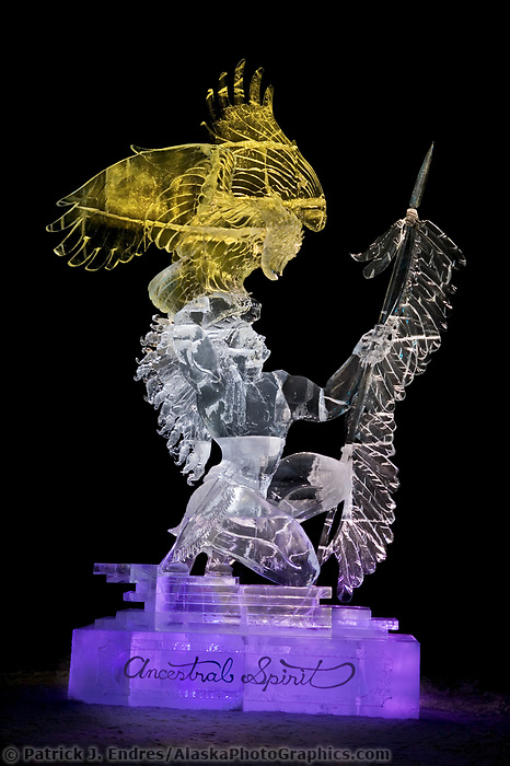 2004 World Ice Art Championships in Fairbanks, ANCESTRAL SPIRIT, BY Junichi Nakamura, Gregory Butauski, Dawson List, Shinichi Sawamura