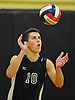 Josh Levine #10 of Bellmore JFK serves during a Nassau County Conference B-1 varsity boys volleyball match against host West Hempstead High School on Thursday, Oct. 13, 2016. Bellmore JFK won 3-1.