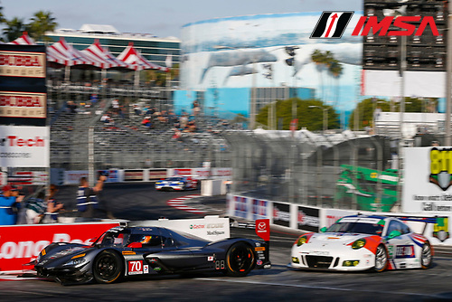 2017 IMSA WeatherTech SportsCar Championship<br /> BUBBA burger Sports Car Grand Prix at Long Beach<br /> Streets of Long Beach, CA USA<br /> Friday 7 April 2017<br /> 70, Mazda DPi, P, Tom Long, Joel Miller<br /> World Copyright: Jake Galstad/LAT Images