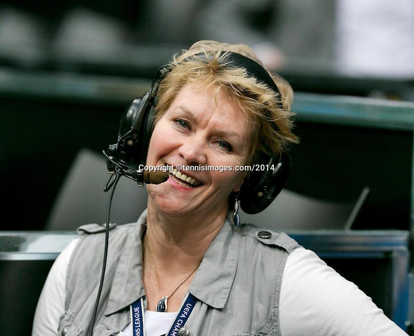 11-02-14, Netherlands,Rotterdam,Ahoy, ABNAMROWTT, Anja Minnaard producer NOS dutch television<br /> Photo:Tennisimages/Henk Koster