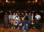 "Terrance Spencer with Student performers during the eduHAM Q & A before The Rockefeller Foundation and The Gilder Lehrman Institute of American History sponsored High School student #EduHam matinee performance of ""Hamilton"" at the Richard Rodgers Theatre on December 11, 2019 in New York City."