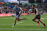 5th July 2020; Hamilton, New Zealand;  Kobus Van Wyk scores his try.<br />
